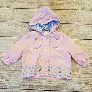 12 month Pink baby rain coat